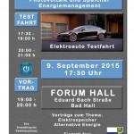 Mi., 09.09.2015 | Vortrag zum Thema Photovoltaik und Speicher, mit Probefahrt im TESLA.