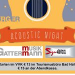 Fr., 6. April 2018    19:30 Uhr  |  ACOUSTIC NIGHT – Siegl / Hauselberger